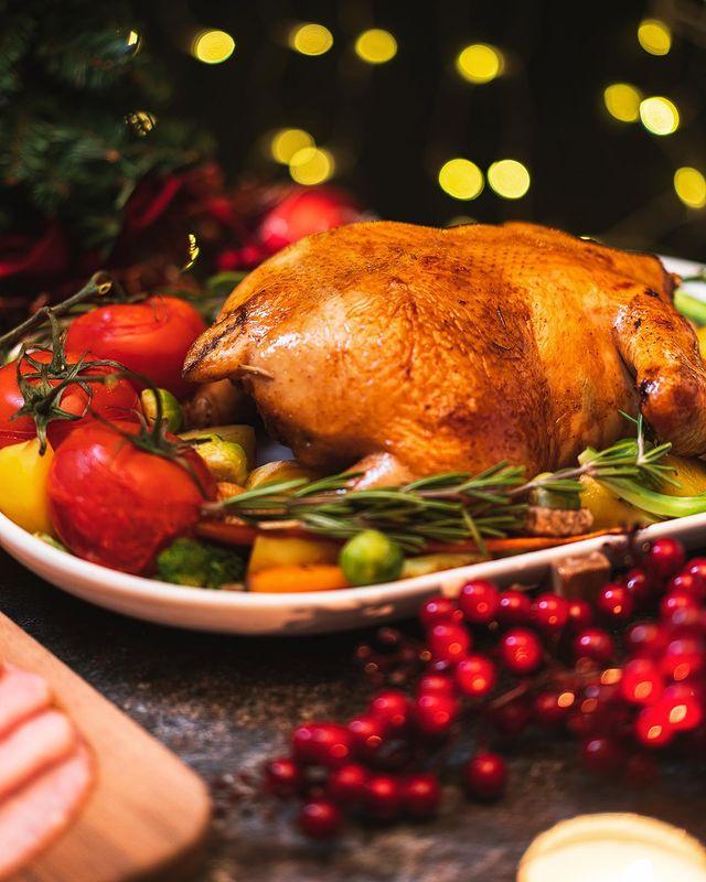 Decorated Christmas turkey